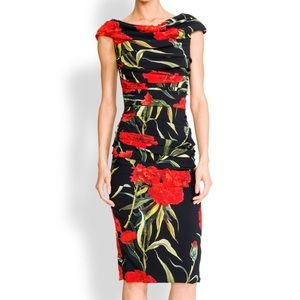 Dolce & Gabbana Cady Carnation Dress NEW